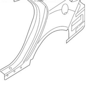 Четверть задняя правая Kia Optima 11-15 американец