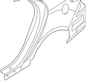 Четверть задняя левая Kia Optima 11-15 американец