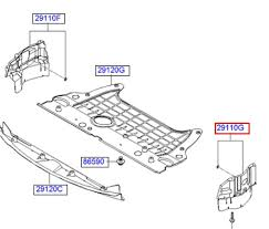 Защита двигателя правая на Hyundai Sonata YF 2011-14