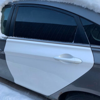 Дверь Hyundai Sonata YF 2010-2014 задняя левая белая USA (Америка)