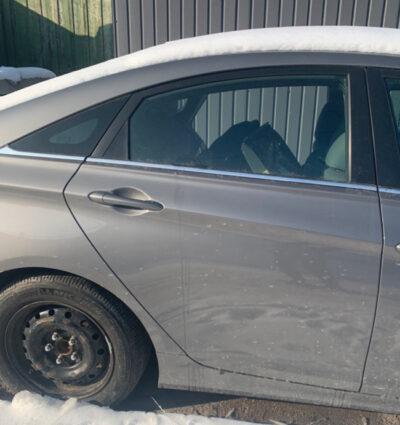 Дверь Hyundai Sonata YF 2010-2014 задняя правая серая USA (Америка)