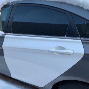 Дверь Hyundai Sonata YF 2010-2014 задняя левая белая