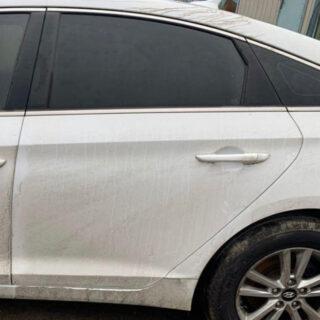 Дверь Hyundai Sonata LF 2014-2017 задняя левая белая USA (Америка)