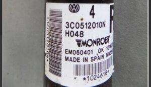 Амортизатор задний правый VW Passat B7 USA 10-14 561512011D
