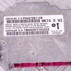Блок управления AIR BAG (подушками безопасности) JEEP Patriot MK74 06-16 68186647AC