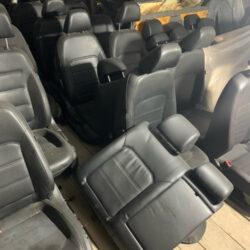Сидения Volkswagen Passat B7 кожаные чёрные