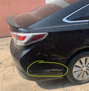 Задний бампер Hyundai Sonata LF Hybrid 2015-17 чёрный