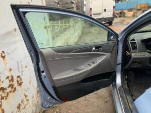 Передняя левая дверь Hyundai Sonata YF гибрид 2010-15 голубая USA арт HSYF007197734