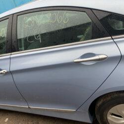 Задняя левая пассажирская дверь Hyundai Sonata YF гибрид 2010-15 голубая