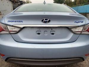 Крышка багажника ляда Hyundai Sonata YF + гибрид 2010-15 голубая