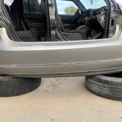 Задний бампер SEL VW Passat B7 с хромом серебро-серый 561-807-421C